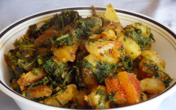 मेथी आलू की सूखी सब्जी
